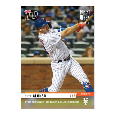 2019 Topps NOW MOW-22 Pete Alonso RC New York Mets ~ Week 22