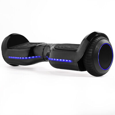 Electric Hoverboard Self-Balancing SGS Certified Bluetooth with Led Light, Black