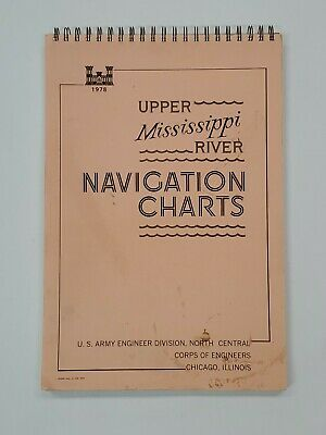 RARE VINTAGE 1978 Upper Mississippi River Navigation Charts, Army Corps Engineer