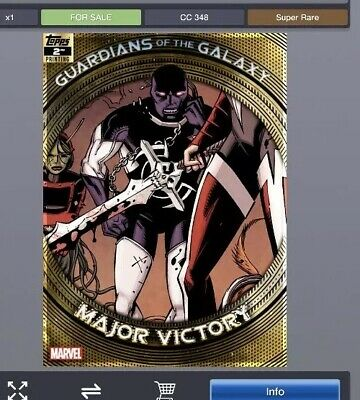 Topps Marvel Collect GUARDIANS of the GALAXY Second 2nd Major Victory *Digital*