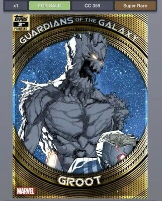 Topps Marvel Collect GUARDIANS of the GALAXY Second 2nd Groot *Digital*