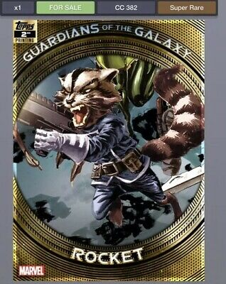 Topps Marvel Collect GUARDIANS of the GALAXY Second 2nd Rocket *Digital*