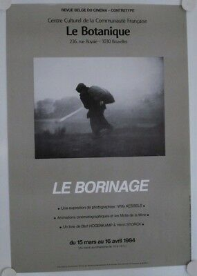 Affiche WILLY KESSELS Photos Le Borinage 1986 Exposition Bruxelles