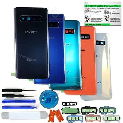 Back Glass Replacement Kit For Samsung Galaxy S10/10e/S10+Camera Lens+IP68 Tape