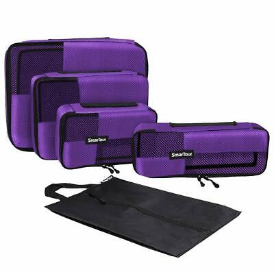 Packing Cubes,Travel Luggage Packing Organizers with Shoe Bag 4pc Set Purple USA