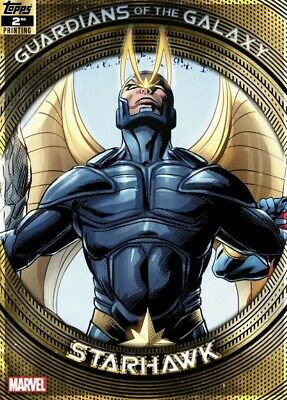Topps Marvel Collect Starhawk GUARDIANS GALAXY GOLD 2nd Printing [DIGITAL] 750cc