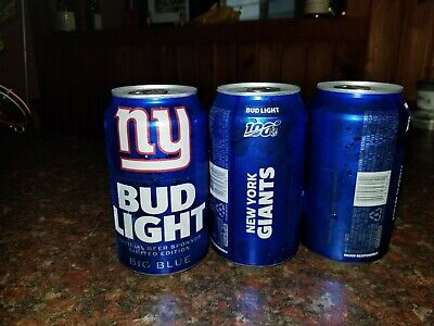 New York GIANTS 2019 Bud Light NFL kickoff can - Limited Edition