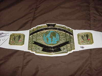 RICKY STEAMBOAT~ SGT SLAUGHTER signed auto WRESTLING INTERCONTINENTAL BELT WWE
