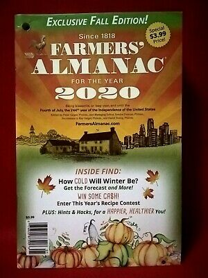 Farmers Almanac for the Year 2020 Magazine Booklet NEW Exclusive Fall Edition