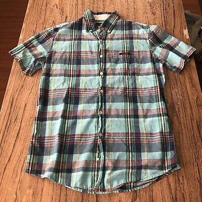 US Polo Assn Mens Plaid Button Up Casual Shirt Size S #13182