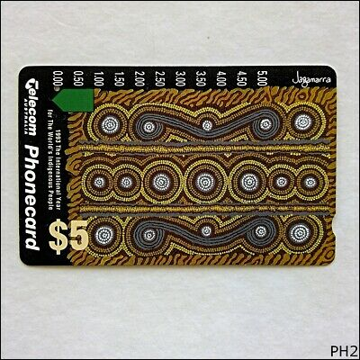 Telecom 1993 International Year World's Indigenous People $5 Phonecard (PH2)