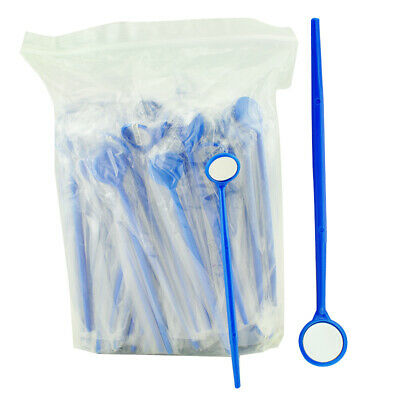 100x Dental Disposable Sterile Mouth Exam Mirrors Plastic Reflector Glass Mirrow