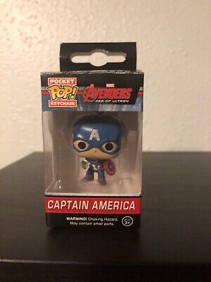 Funko Pocket Pop Keychain Captain America Marvel Avengers Age Of Ultron