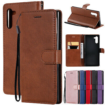 For Samsung Galaxy Note 10+ Plus Case Magnetic Flip Leather Wallet Stand Cover
