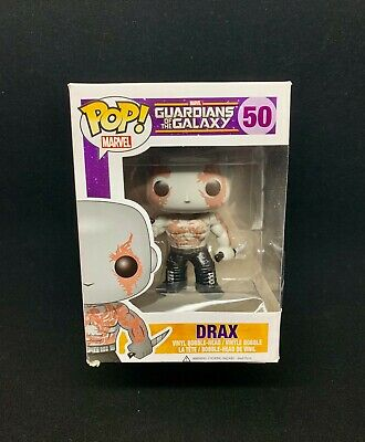 Funko Pop! Marvel Drax #50 BOX CREASES Avengers Guardians of the Galaxy New