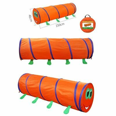 Kids Animal Pop Up Crawl Tunnel Tube Play Tent Toy Indoors/outdoors Game 150cm