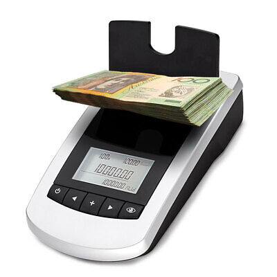 Digital Note Money Counting Machine Coin Counter Sorter Jewelry Scale Australian