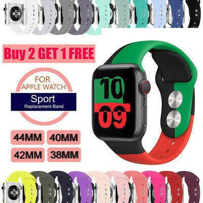 38/42/40/44mm Silicone Sports Band iWatch Strap for Apple Watch Series 4 3 2 1