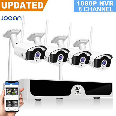 JOOAN 8CH Wireless 1080P NVR Outdoor Home WIFI Camera CCTV Security System Video