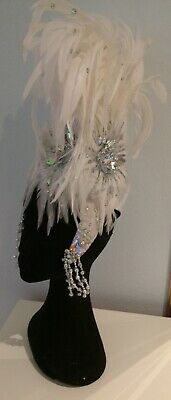 White /jewel SAMBA or Wedding head-dress, worn once, excellent quality RRP $225