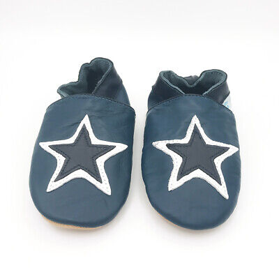 *SECONDS* Dotty Fish Boys Soft Leather Baby and Toddler Shoes 12-18 Months