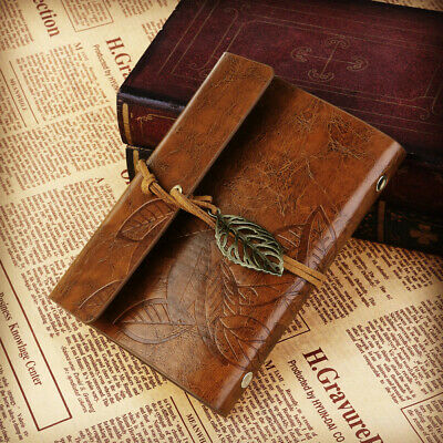 Vintage Loose-leaf String Bound PU leather Notebook Notepad Travel Journal Diary