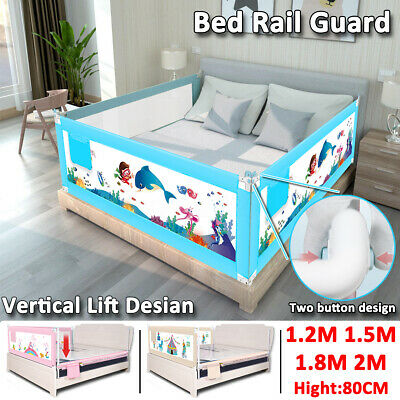 1.5M 1.8M Toddler Baby Bed Rail 2M Safety Bed Guard Folding Adjustable Kid Sleep