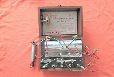 Thomas Hall's New French Battery Dry Cell Medical Quack Vibrator NO BATTERY
