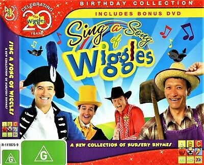 20 YEARS THE WIGGLES: Sing A Song Of Wiggles CD 1-DISC ABC TV NURSERY RHYMES R4