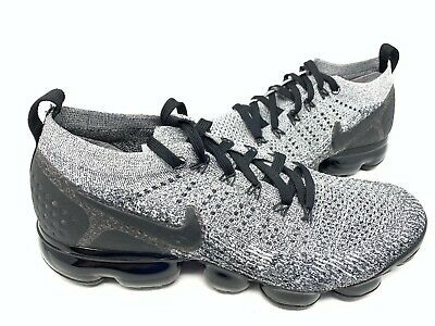 NEW! Nike Men's Air Vapormax Flyknit 2 Running Shoes Blk/Gry Size:10 #942 160G z