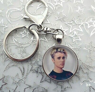Justin Bieber Singer Photo Key Ring Lobster Claw & Swivel Chain With Gift Box