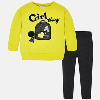 MAYORAL GIRLS SET ZWEITEILER LEGGINGS UND SWEATSHIRT 4715 NEU Gr. 98 / 3 Y