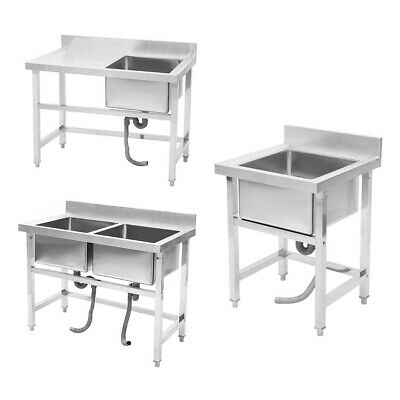 Metal Domestic Commercial Catering Sink Kitchen Warewashing Sinks Free Standing