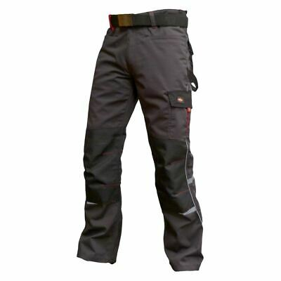 Lee Cooper Workwear Mens Multi Pocket Knee Pockets Fashion Fit Cargo Trousers