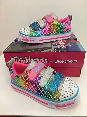 "Skechers Twinkle Toes ""Mano -Speed"" Girls Casual Sneaker with Lights (20161L"