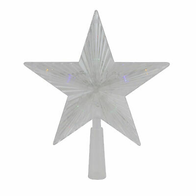 """Northlight 10"""" Clear Crystal Star LED Christmas Tree Topper - Multi Lights"""