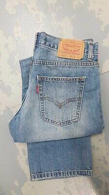 Levi Strauss 513 Slim Straight Red Tab Jean - W29 L27 (14 Reg) - Light Blue
