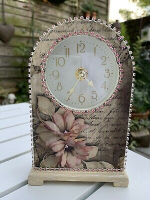 Mantle Clock Very Pretty Hand Decorated