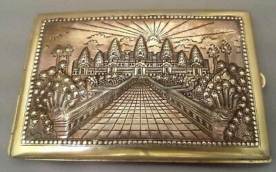 Case a Cigarette Silver - Work Indochina - Cambodia
