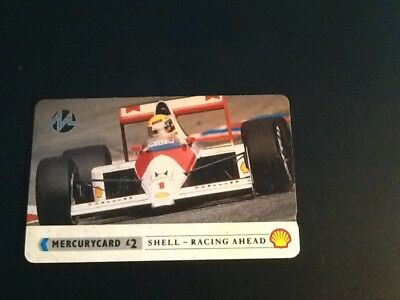 Phonecard Mercury £2 Shell-Racing Ahead Senna Formula One Honda