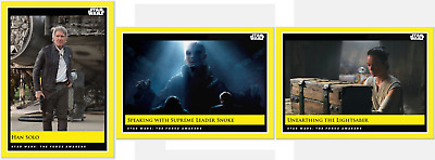 2019 Topps Star Wars Galactic Moments Countdown to Episode 9 - Week 38 (3-Cards)