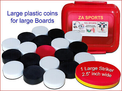 Carrom Board Coins (Ideal For All Size & Levels) With Striker Set Of 20 Disks