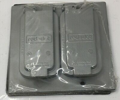 Wdgf100-C Steel-City Two Gang Cover For Duplex And Gfci Receptacles With Gasket,