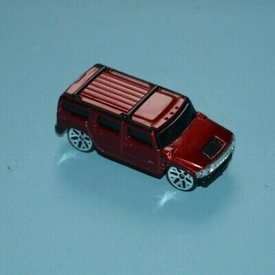 Maisto Chrome Candy Apple Red Hummer H2 Suv 1/64 Scale Diecast Car