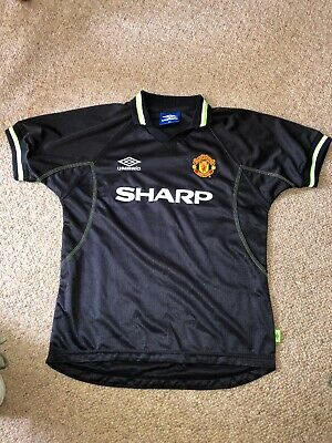 Manchester United 1998/99 Third 12/13 Kids Youth Away 98/99 Black 158 Rare