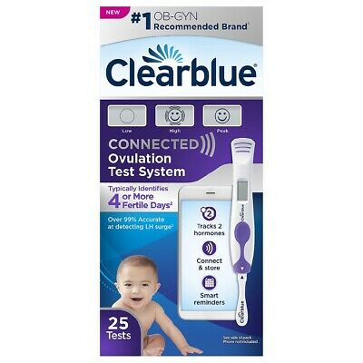 Clearblue Connected Ovulation Test System 25 Tests / FACTORY SEALED