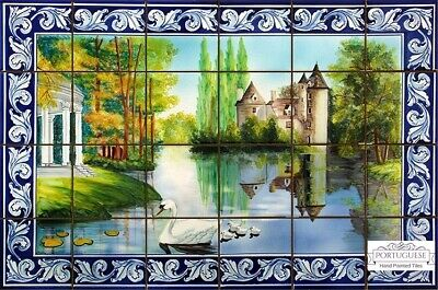 Tile Mural Kitchen Wall Backsplash Ceramic Wall Art Azulejos SWANS