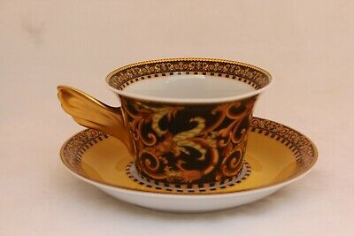 """Rosenthal Studio Linie VERSACE Barocco 2¾"""" Cup and Saucer - Wunderlich Ikarus"""