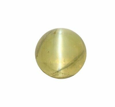 GIA Certified Natural Cats Eye Chrysoberyl Round Double Cabochon 9.70 CT