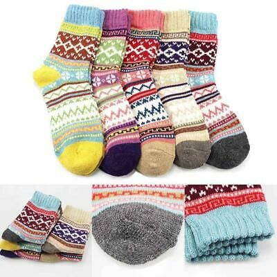 Women Wool Cashmere Thick Winter Socks Warm Soft Casual Gifts Sport Xmas So H0N7